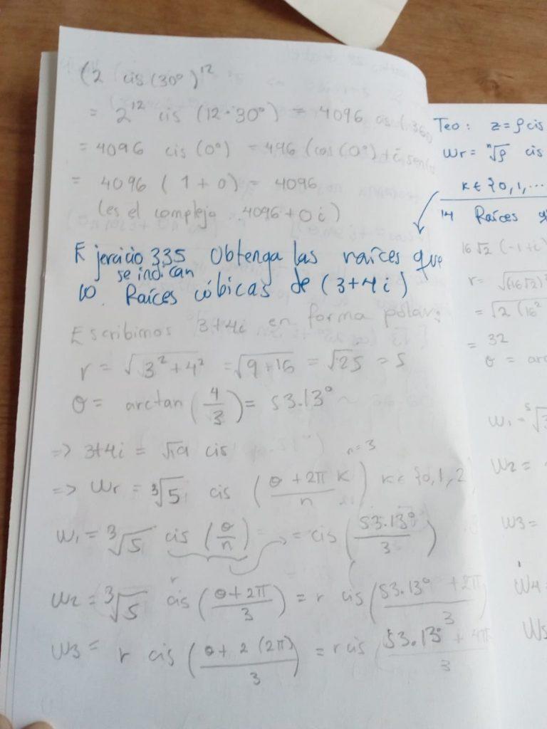 Problemas de fórmula de De Moivre y de raíces