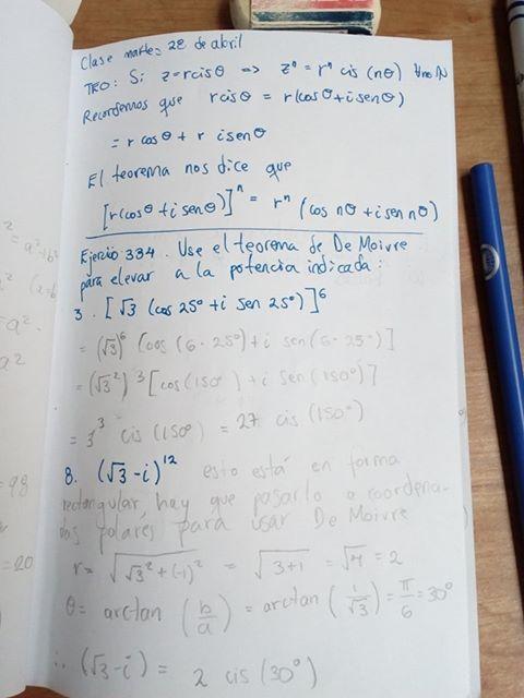 Problemas de fórmula de De Moivre, 1