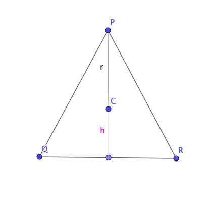 Condiciones para la altura y base del triángulo