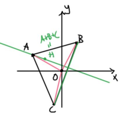 Vectores en geometría para encontrar el ortocentro