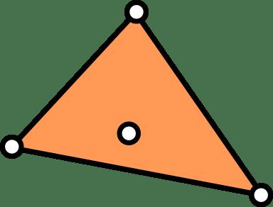 Cuatro puntos que no están en posición convexa